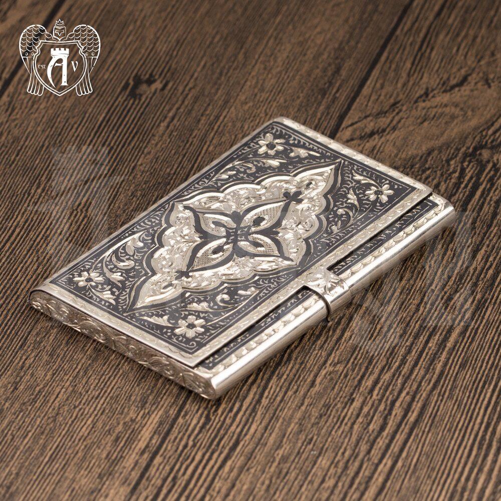 Визитница серебряная «Падишах» Апанде, 91003222