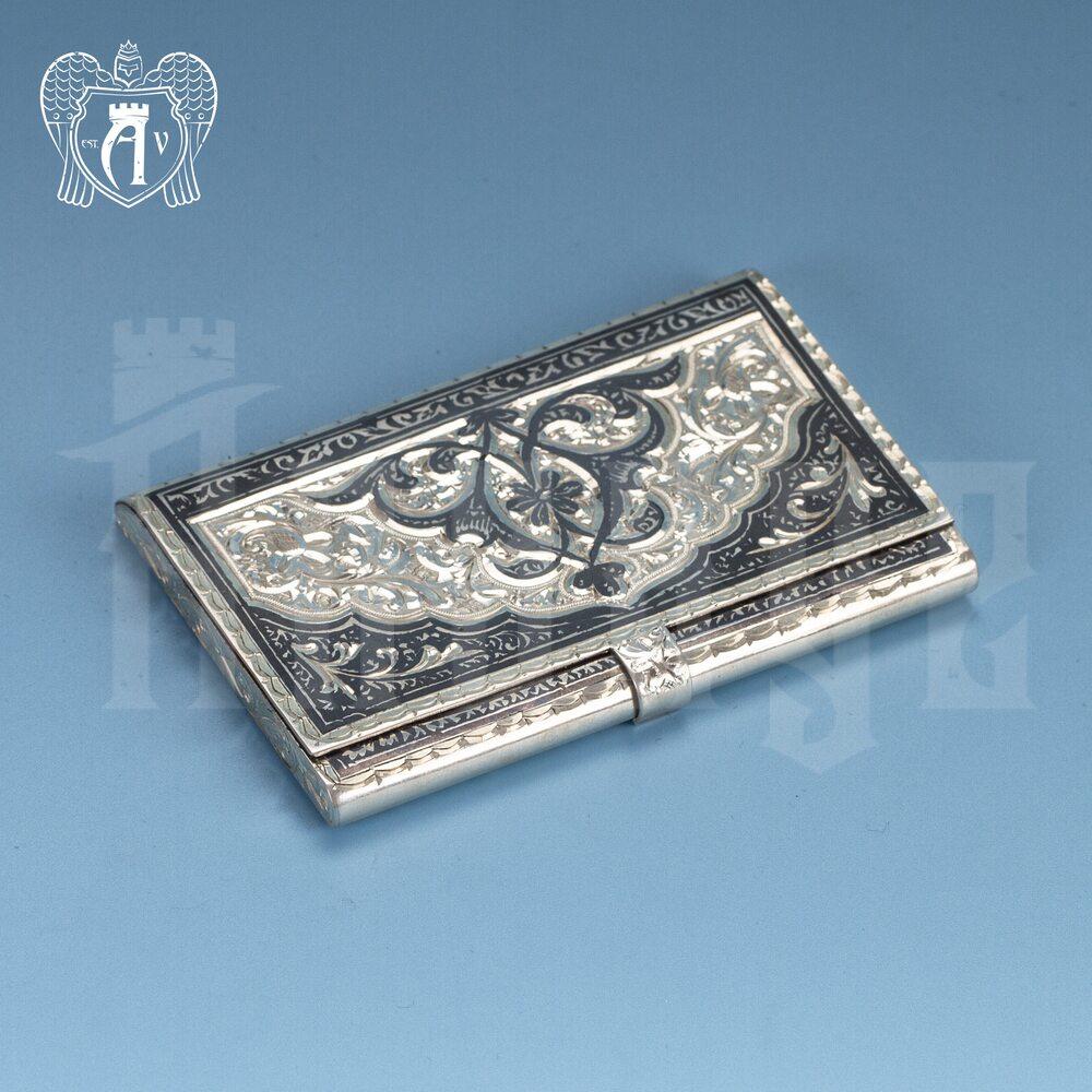 Визитница серебряная «Командор» Апанде, 91003224