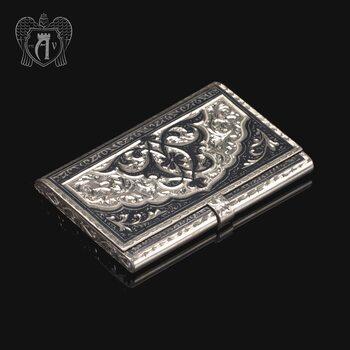 Визитница серебряная «Командор»
