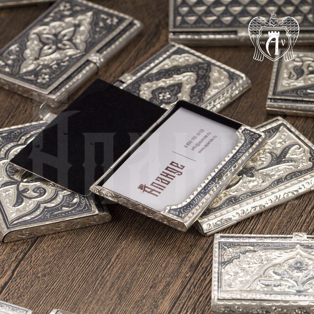 Визитница серебряная «Канцлер» Апанде, 91003225