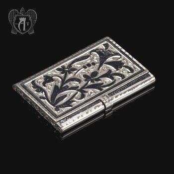Визитница серебряная «Канцлер»