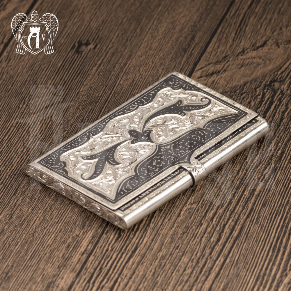 Визитница серебряная «Граф» Апанде, 91003227
