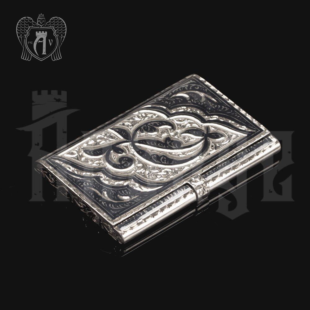 Визитница серебряная «Симфония» Апанде, 91003229