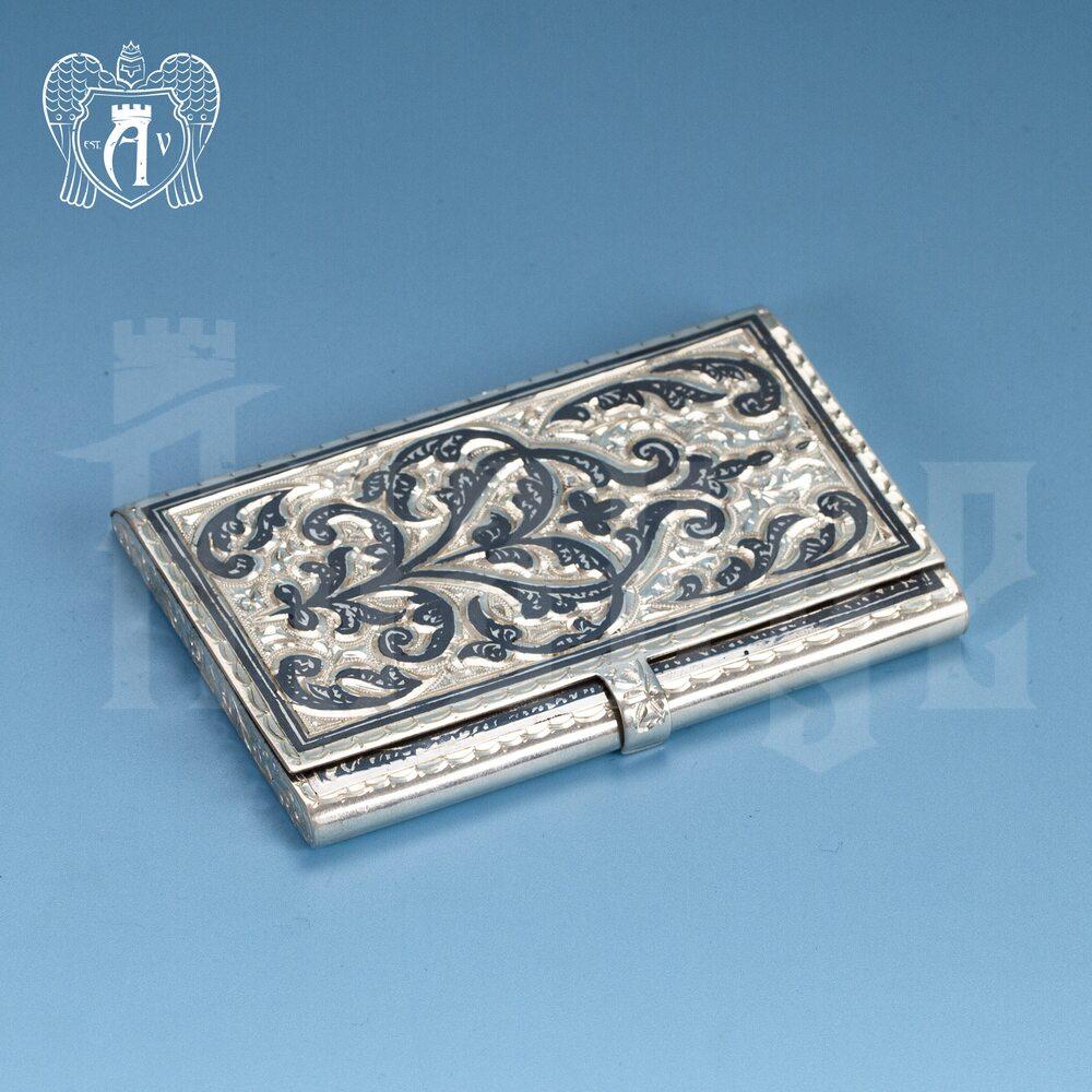 Визитница серебряная и ручка «Традиция» Апанде, 111003228