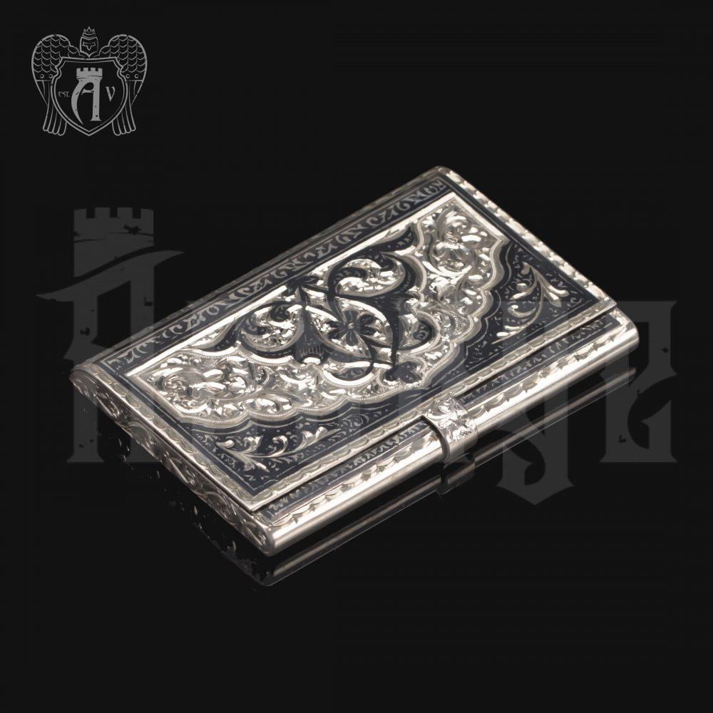 Визитница серебряная и ручка «Командор» Апанде, 111003231