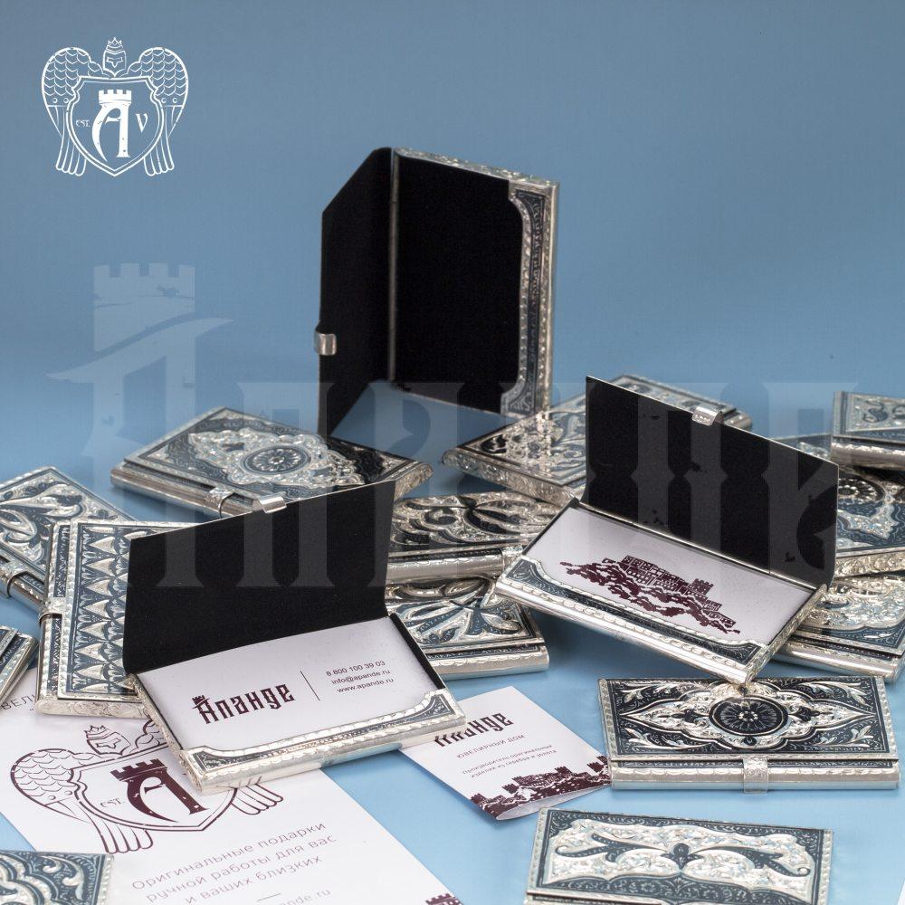 Визитница серебряная и ручка «Маркиз» Апанде, 111003235