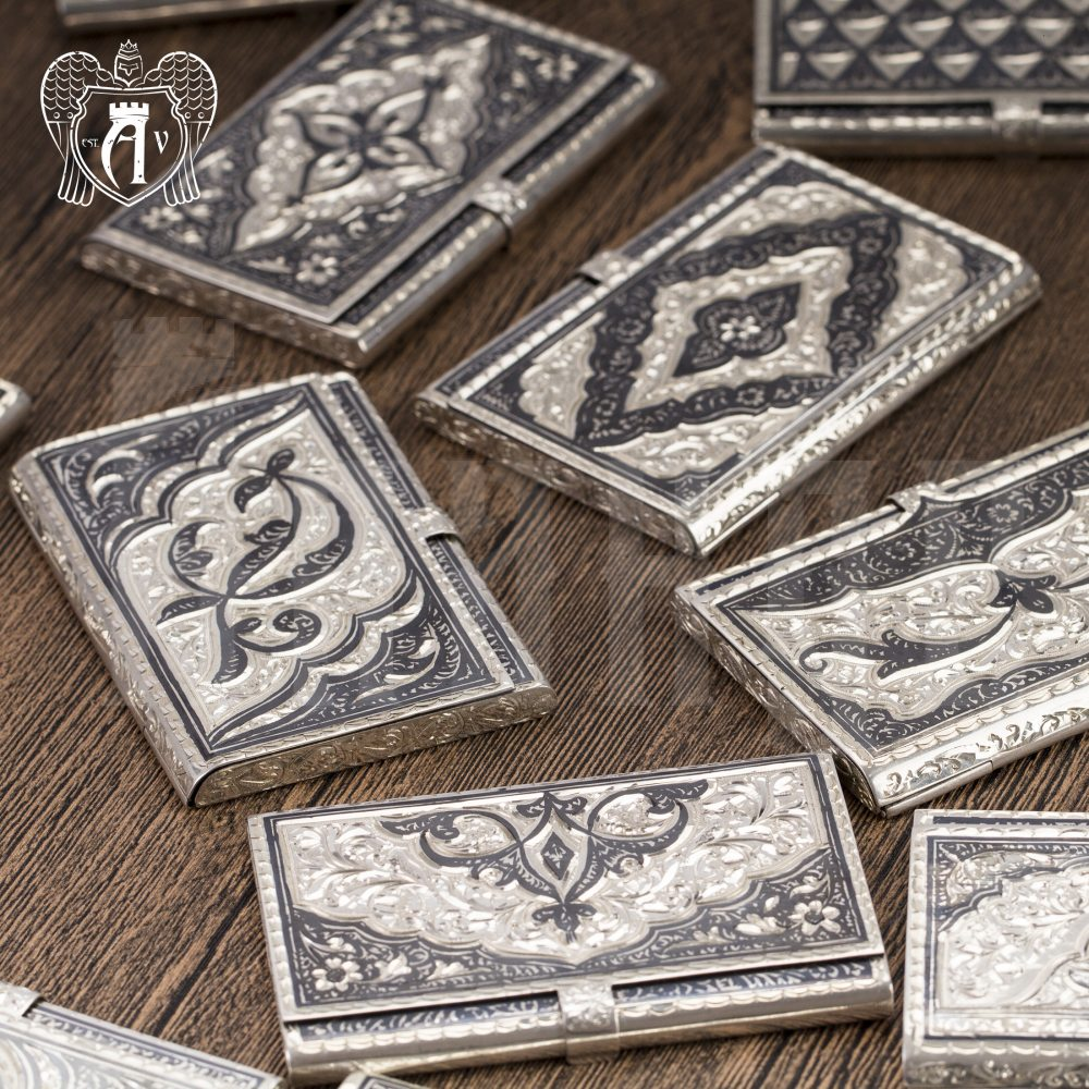 Визитница серебряная «Маркиз» Апанде, 91003237