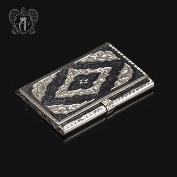 Визитница серебряная «Бизнесмен»