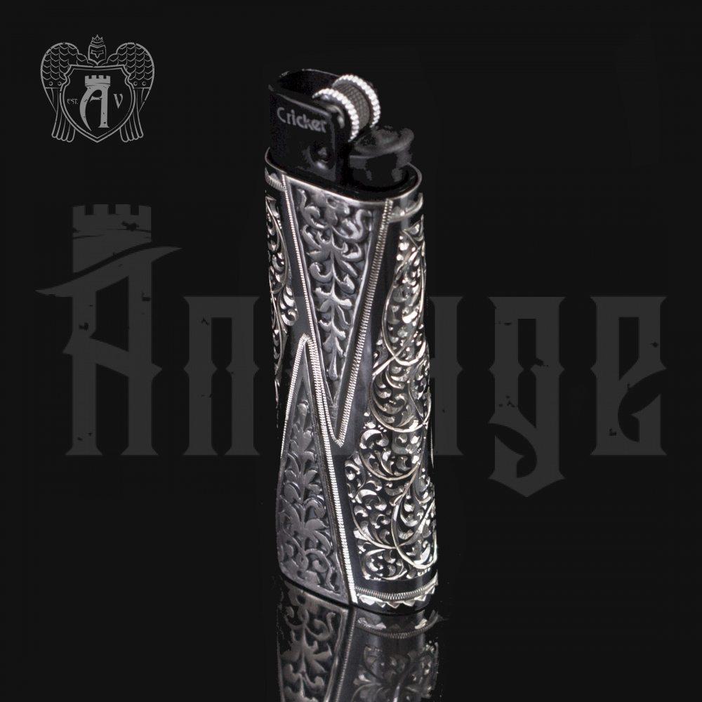 Зажигалка серебряная «Авантаж» Апанде, 550008