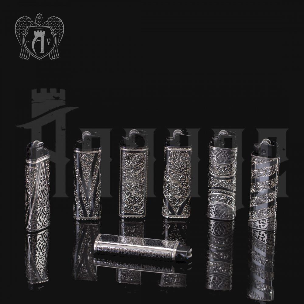 Зажигалка серебряная  «Эгоист» Апанде, 550009