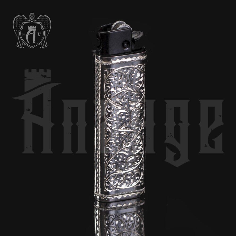 Зажигалка серебряная «Барон» Апанде, 5500011