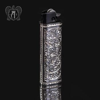Зажигалка серебряная «Барон»