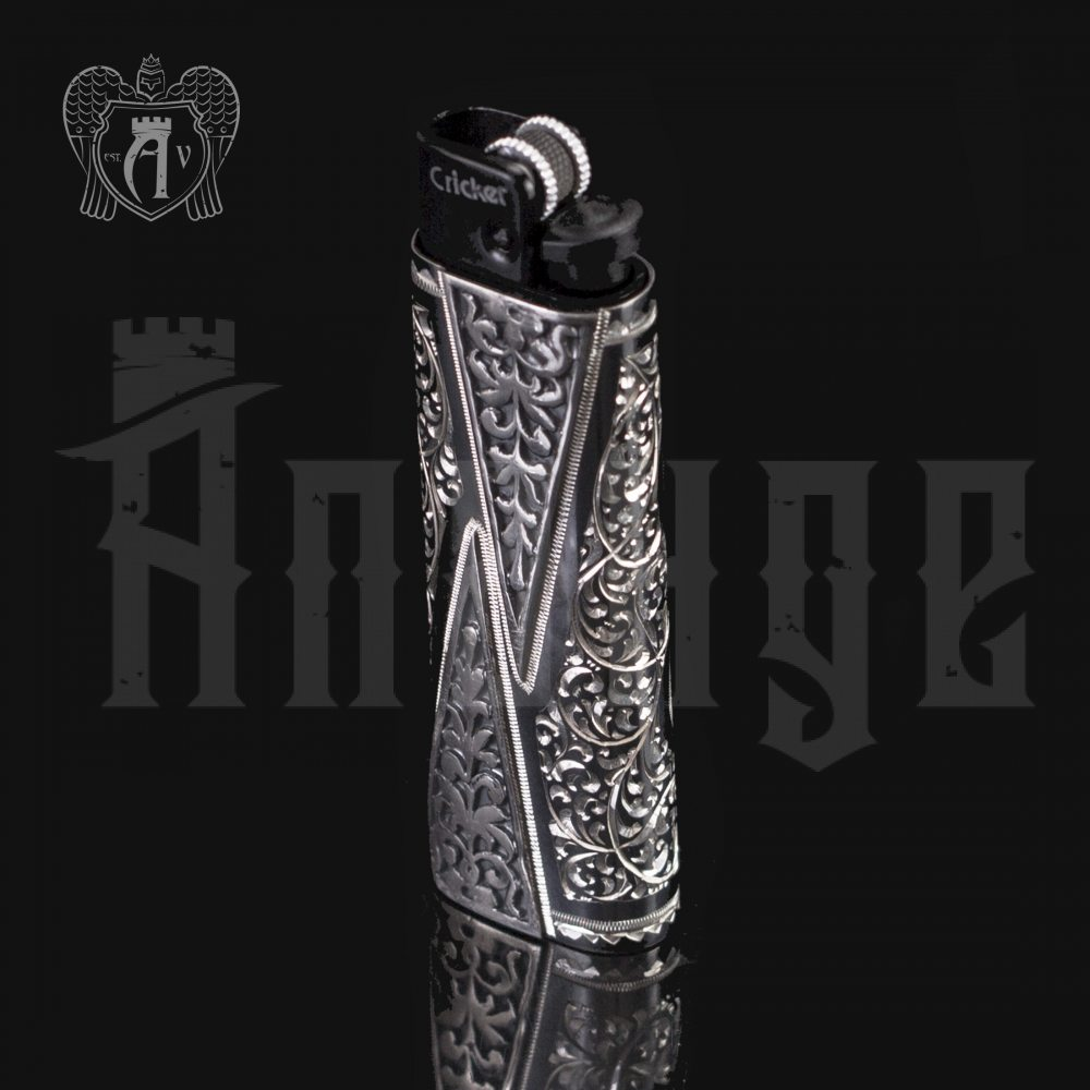 Зажигалка серебряная «Граф» Апанде, 5500012