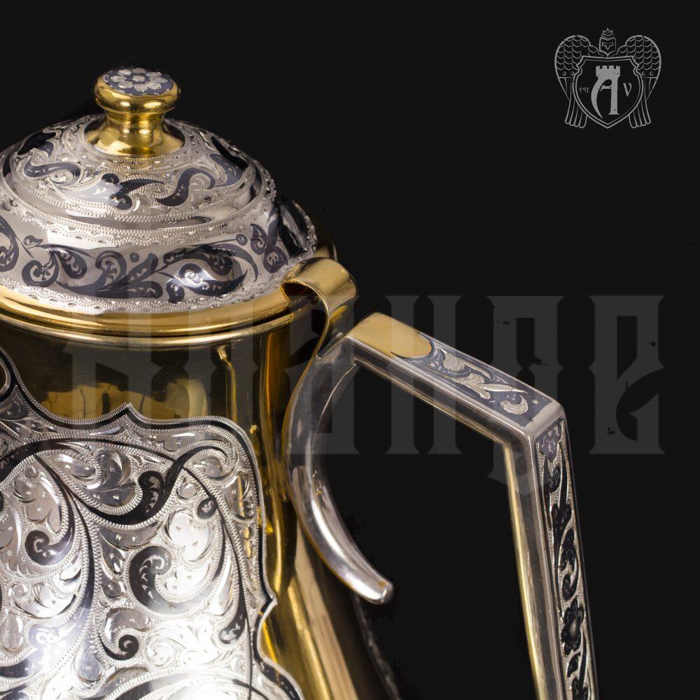 Набор для воды кувшин и два стакана из серебра «Осирис» Апанде, 11100693