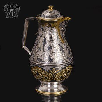 Кувшин из серебра с позолотой  «Осирис»