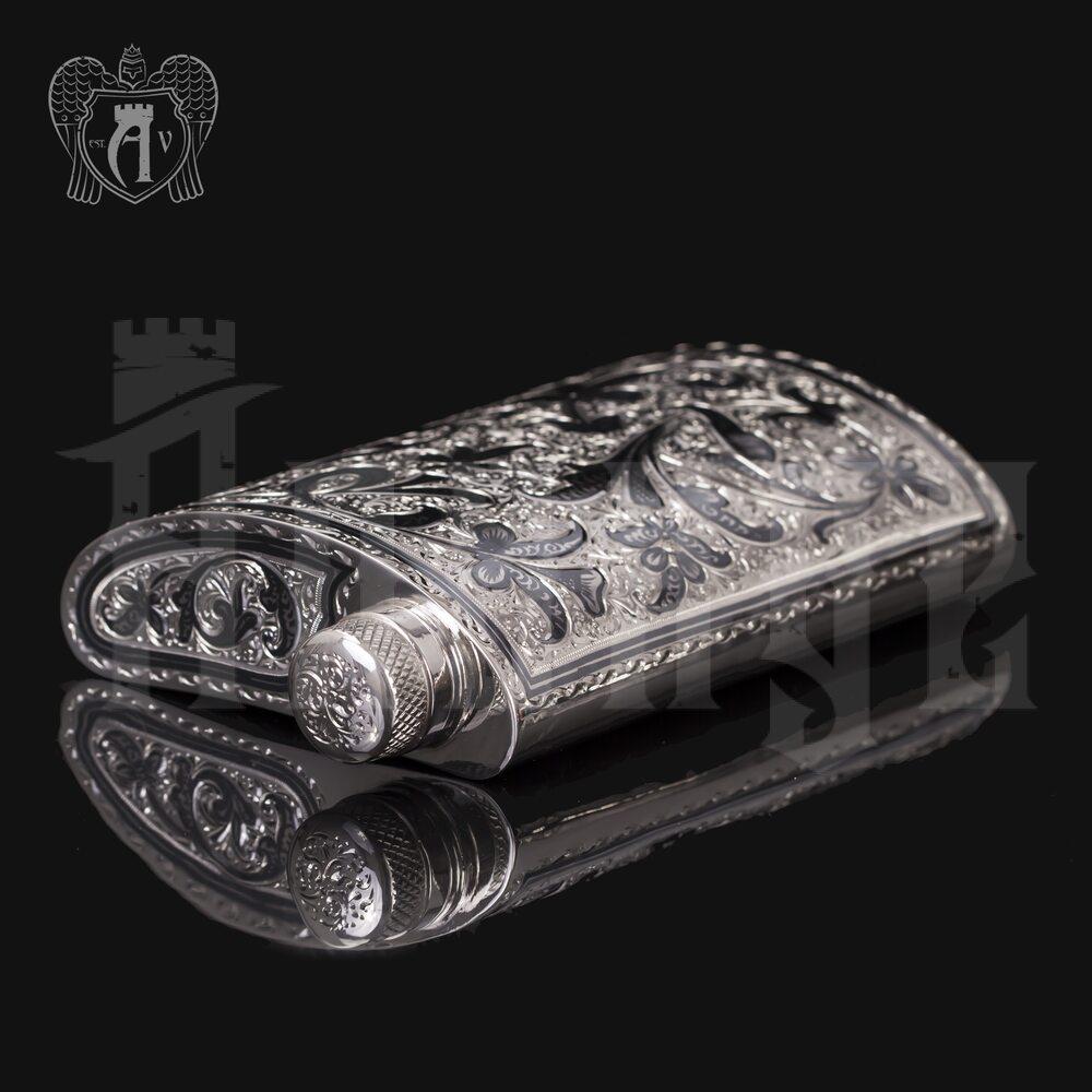 Фляжка из серебра  «Вьюн»  Апанде, 72000191