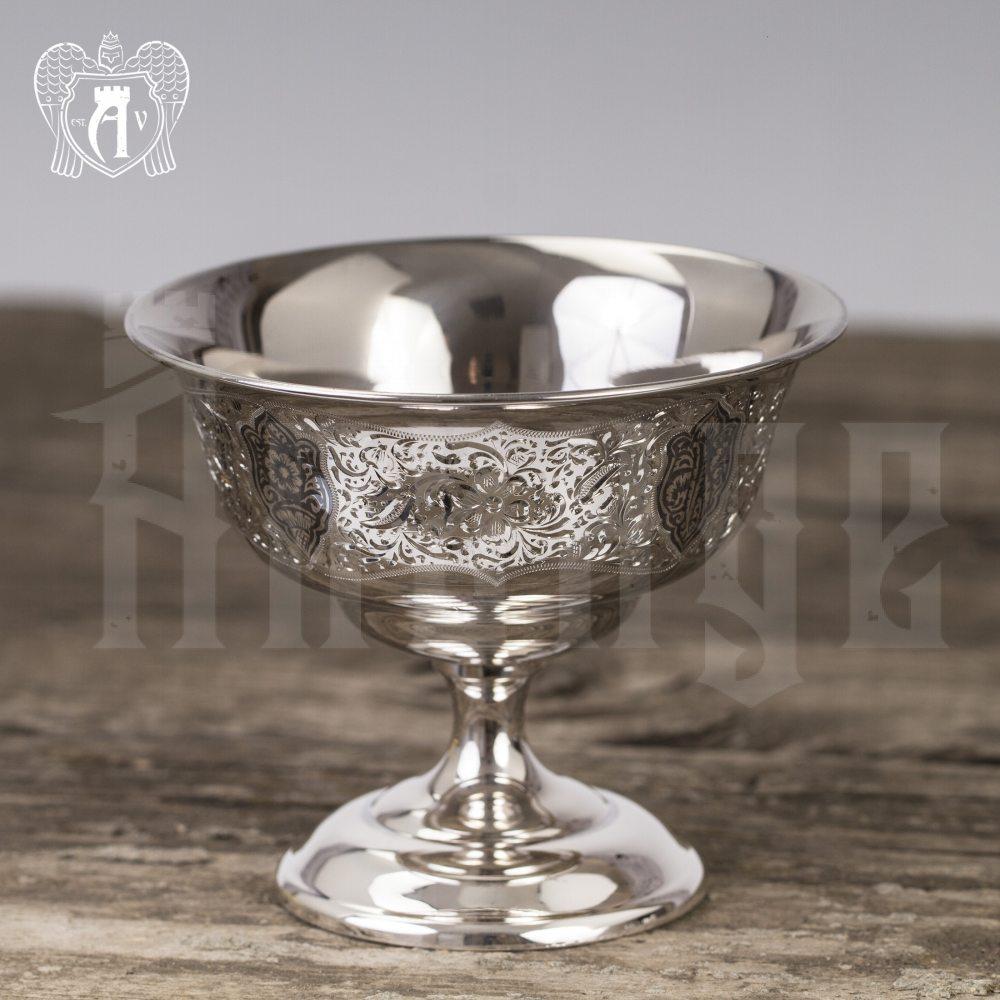 Вазочка серебряная для варенья «Зарина» Апанде, 3400012