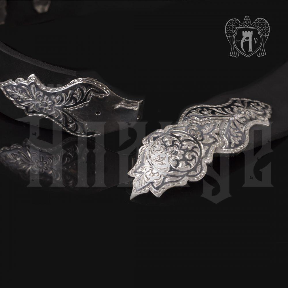 Ремень из серебра  «Этно» Апанде, 88800139