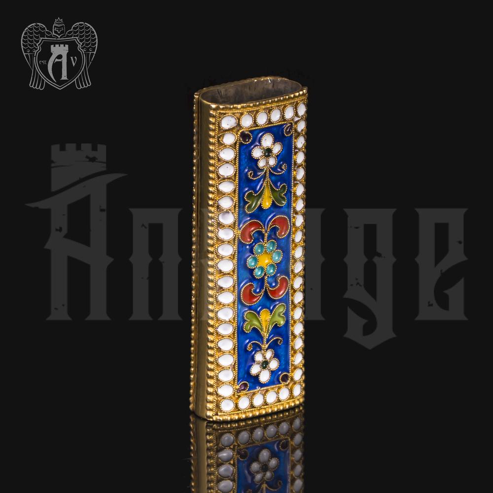 Портсигар серебряный и зажигалка «Атлант» с эмалью Апанде, 53000167
