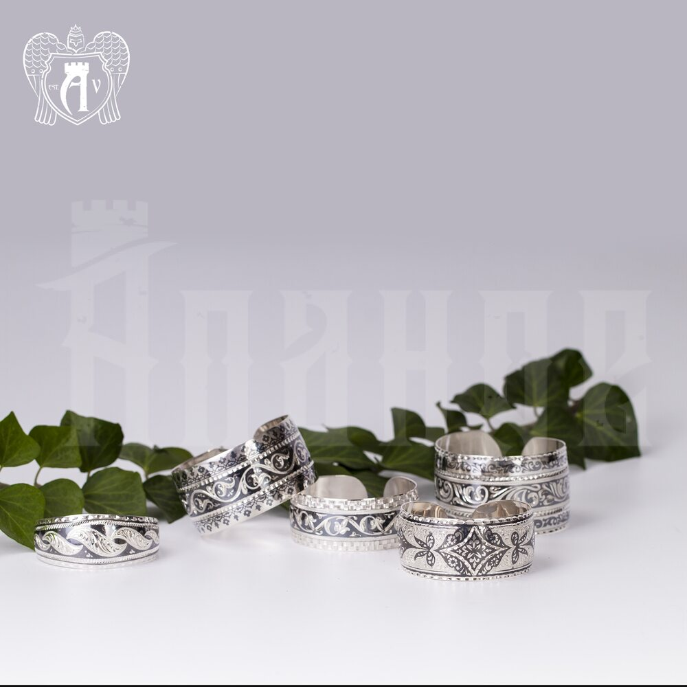 Браслет кубачинский из серебра»Турецкий» Апанде, 23000423130