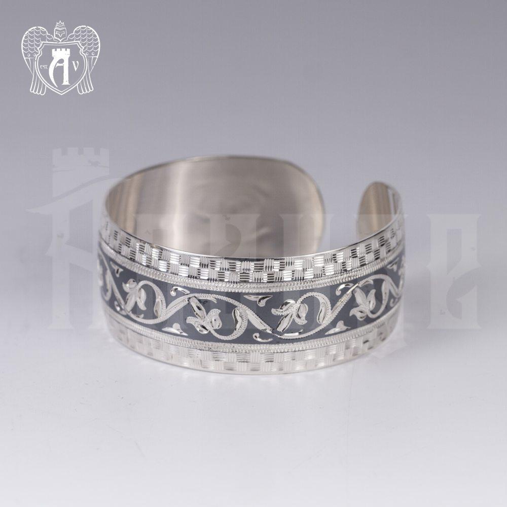 Серебряный кубачинский браслет «Рагда» Апанде, 2300042134