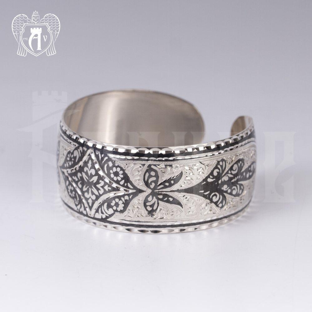 Серебряный кубачинский браслет «Корнелия» Апанде, 2300042127