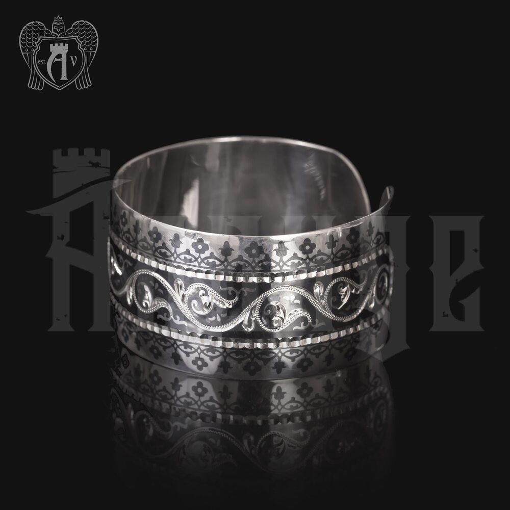 Серебряный кубачинский браслет «Азиза» Апанде, 2300042128
