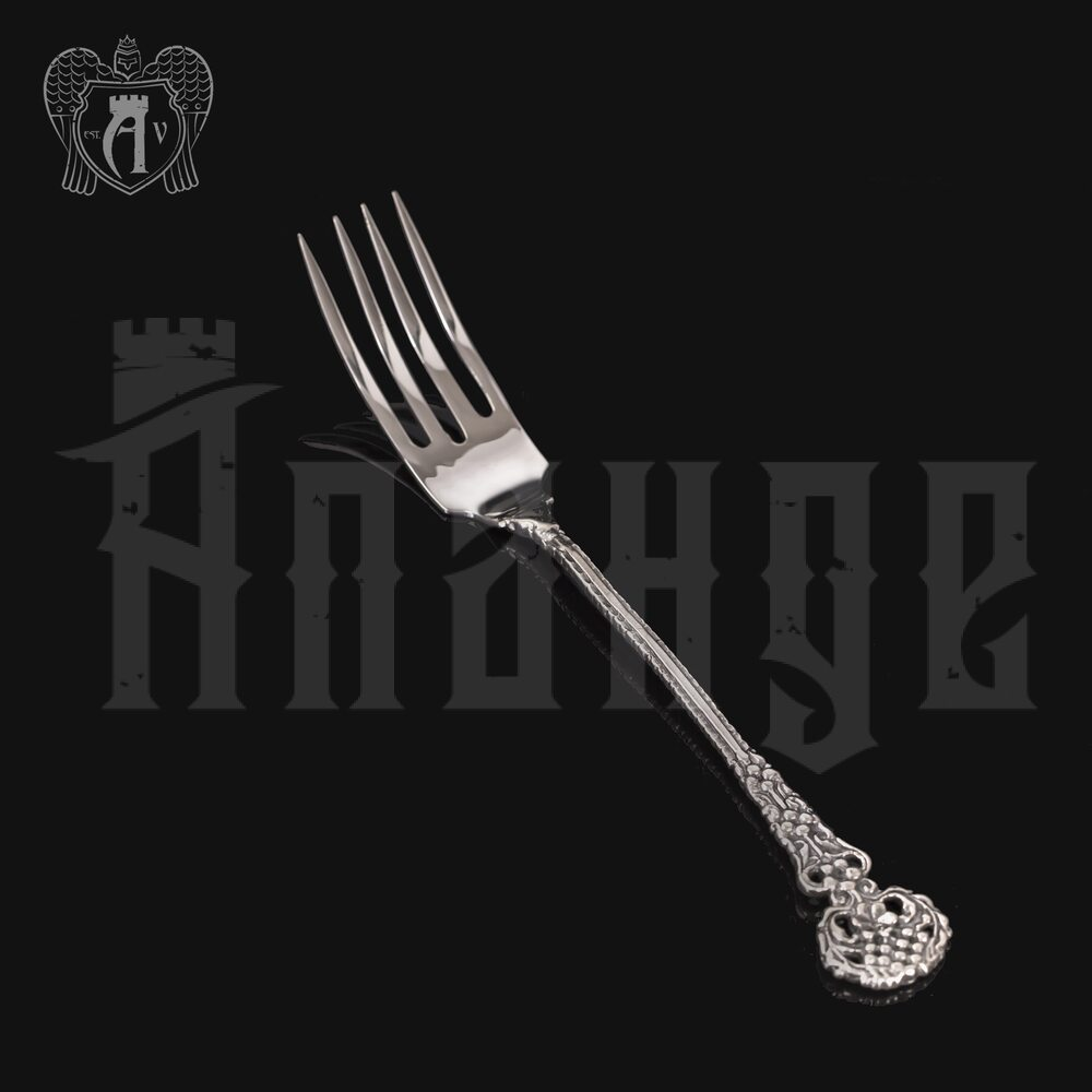 Серебряная вилка десертная «Ажурная» Апанде, 2900001