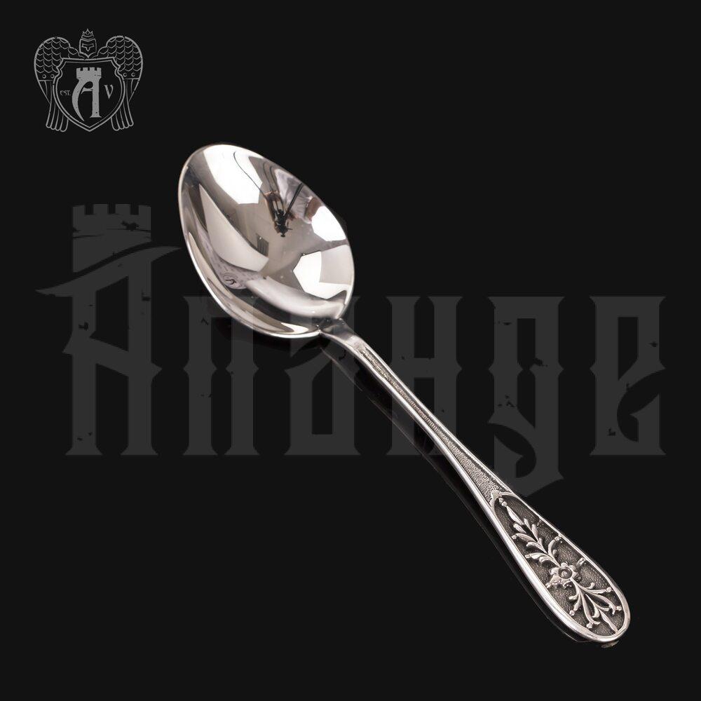 Серебряная чайная ложка  «Ромашки» Апанде, 230001246