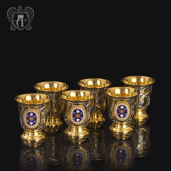 Набор серебряных стопок «Императорский»
