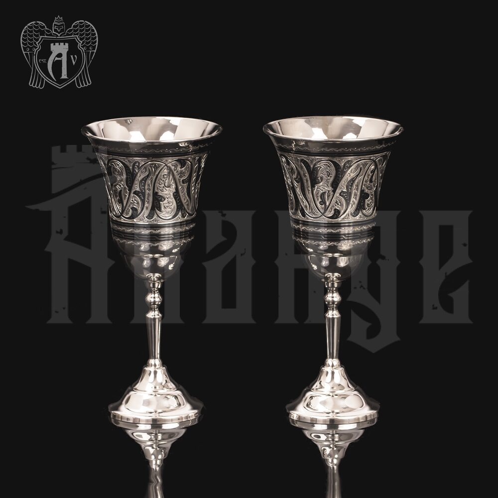 Серебряные фужеры «Торжество» пара Апанде, 3800409