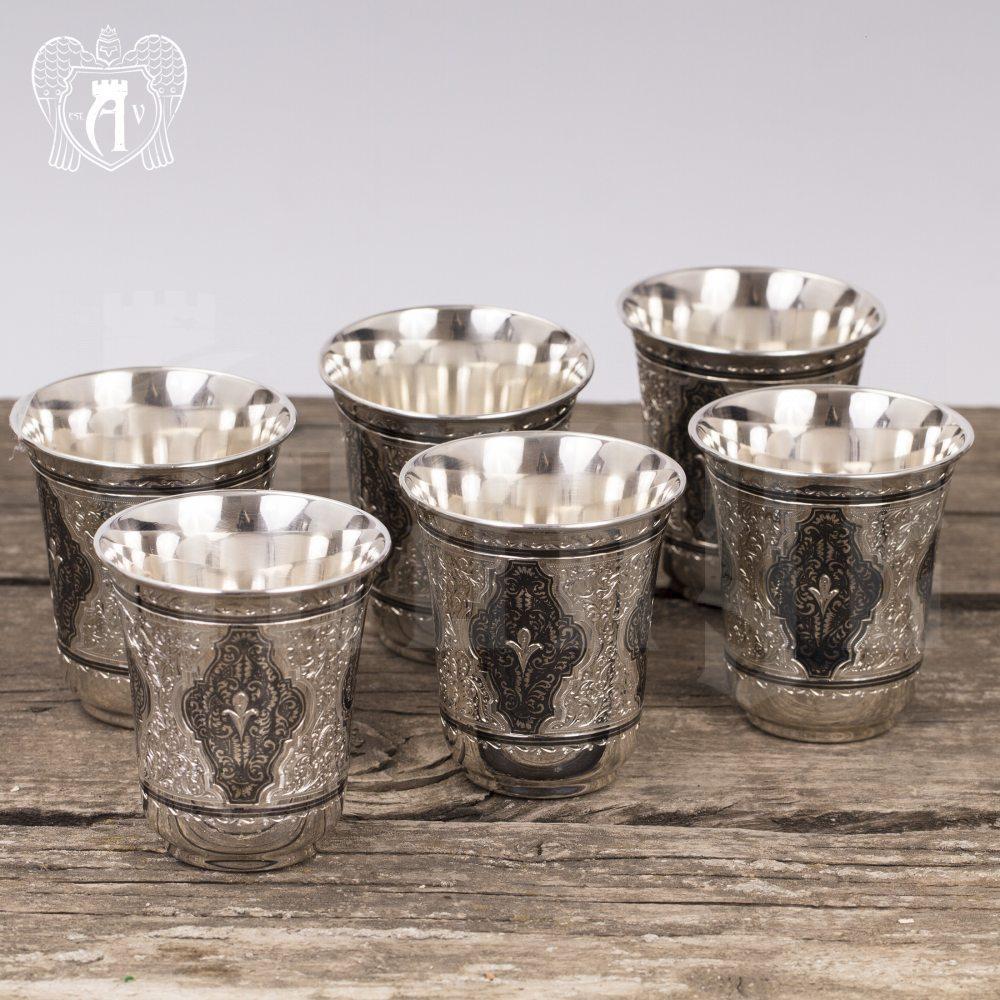 Набор серебряных стаканов «Аладдин» Апанде, 71000440