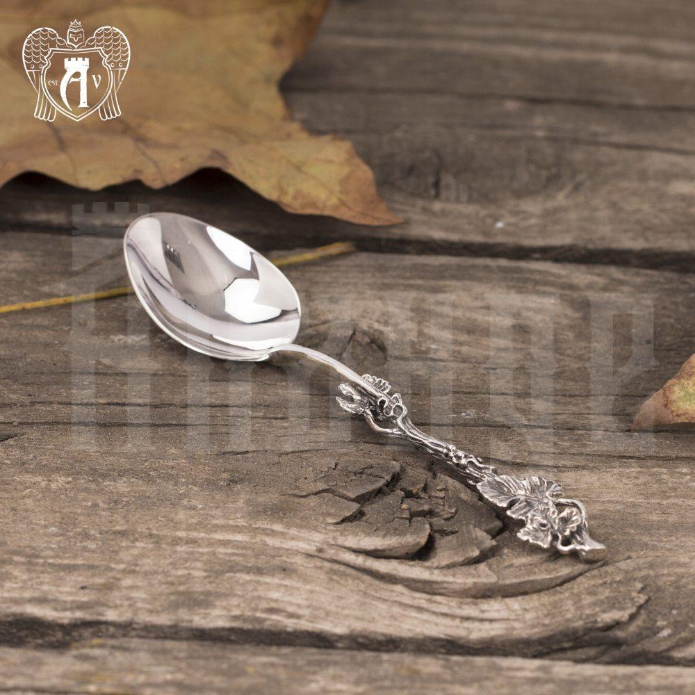 Серебряная чайная ложка  «Плющ» Апанде, 230001249