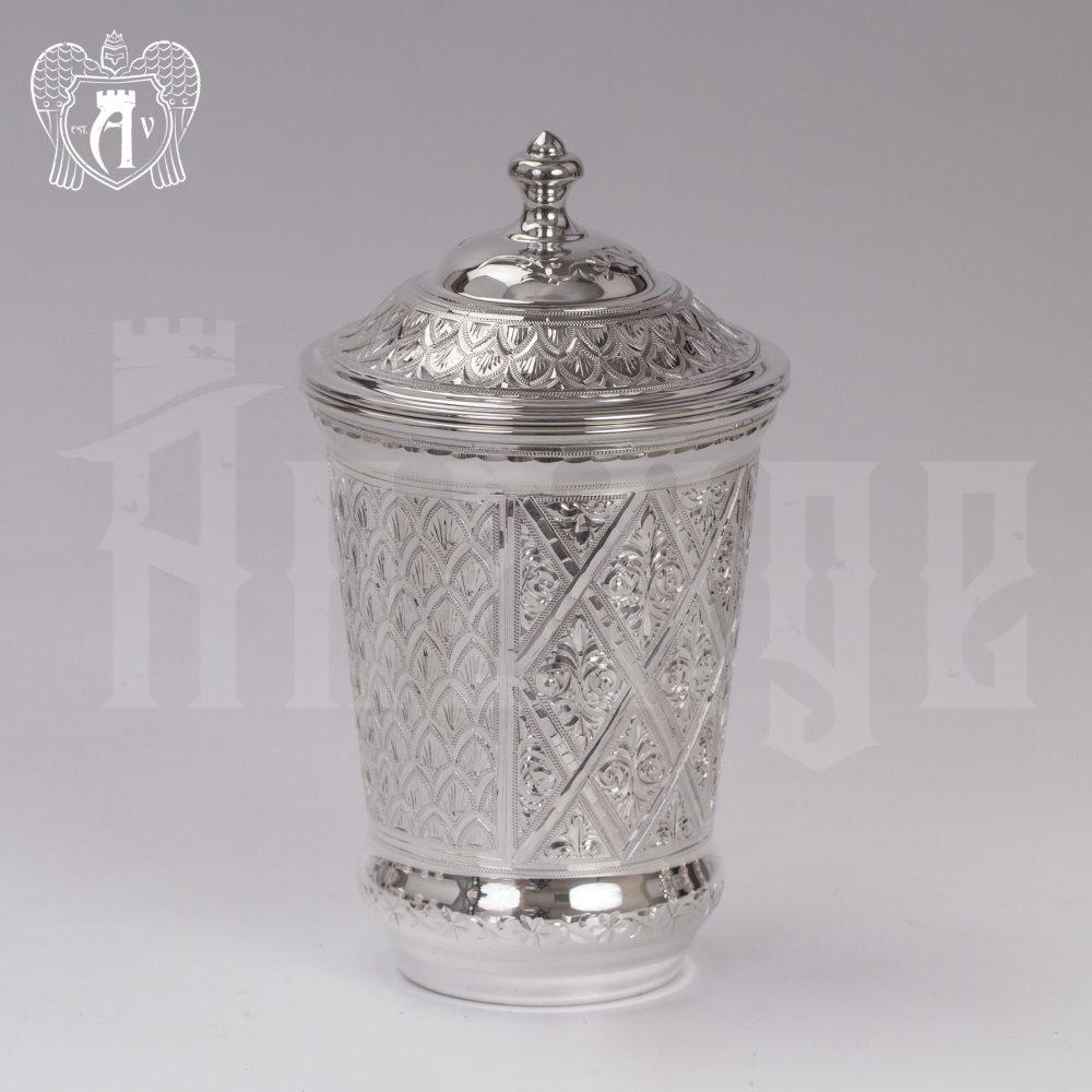 Серебряный стакан «Живой источник» из чистого серебра 999 пробы Апанде, 71000506