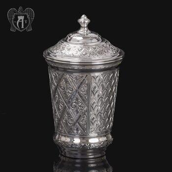 Серебряный стакан «Живой источник» из чистого серебра 999 пробы