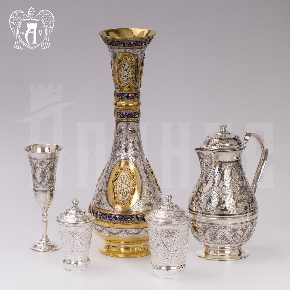 Ваза из серебра с эмалью «Таис» Апанде, 590004