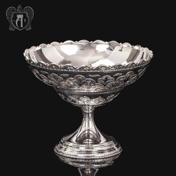 Конфетница из серебра для фруктов и сладостей «Мишель»