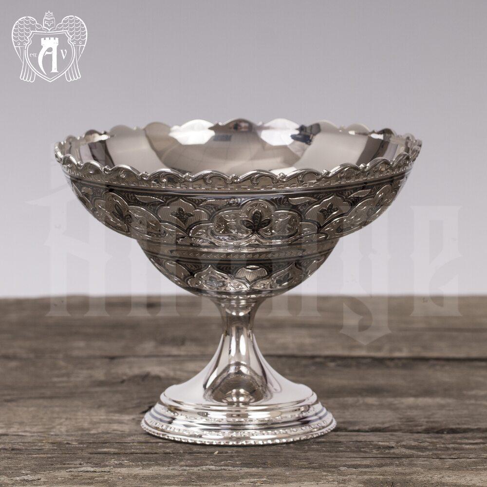 Конфетница из серебра для фруктов и сладостей «Мишель» Апанде, 5200010
