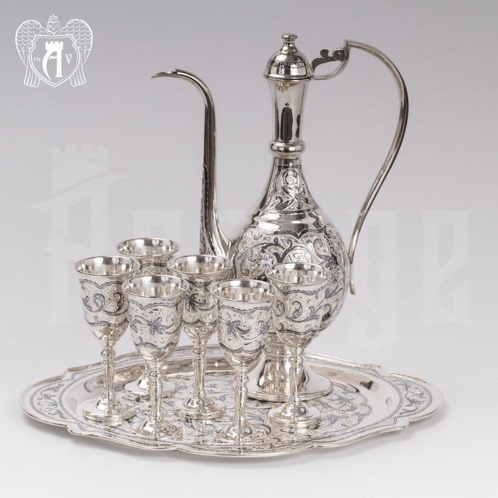 Коньячный сервиз из серебра  «Бристоль» Апанде, 11100538