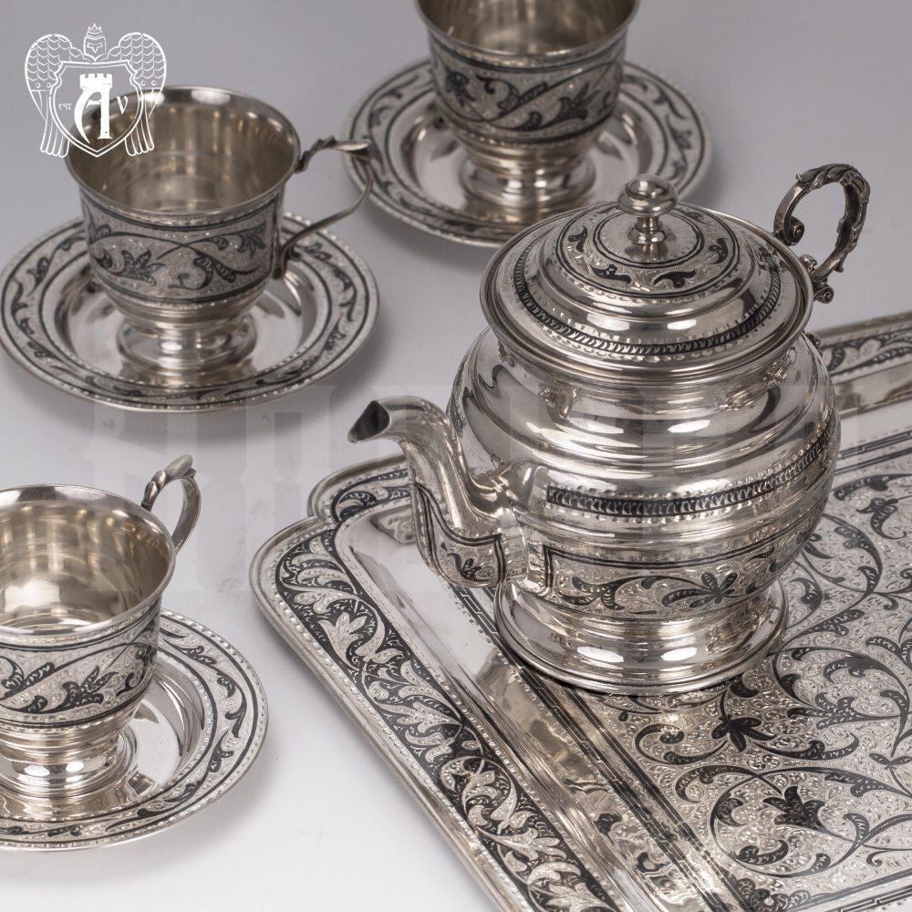 Сервиз серебряный чайный «Чайная церемония» Апанде, 111049275