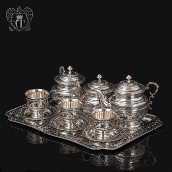 Сервиз серебряный чайный «Чайная церемония»