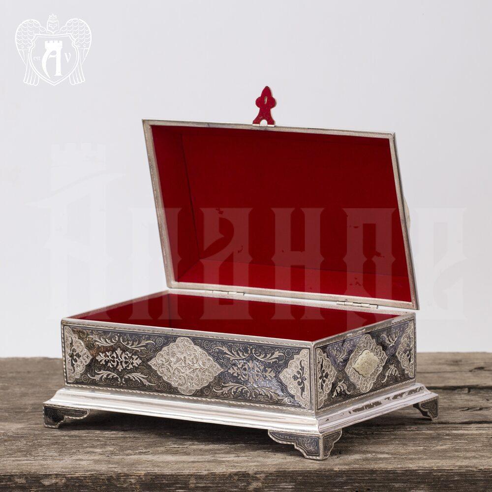 Серебряная шкатулка ручной работы «Медея»  Апанде, 84000428