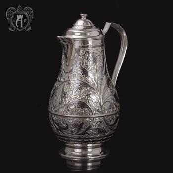 Большой кувшин для напитков из серебра «Колосс»