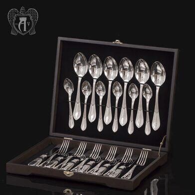 """Десертный набор столового серебра """"Элегант"""" 24 предмета"""