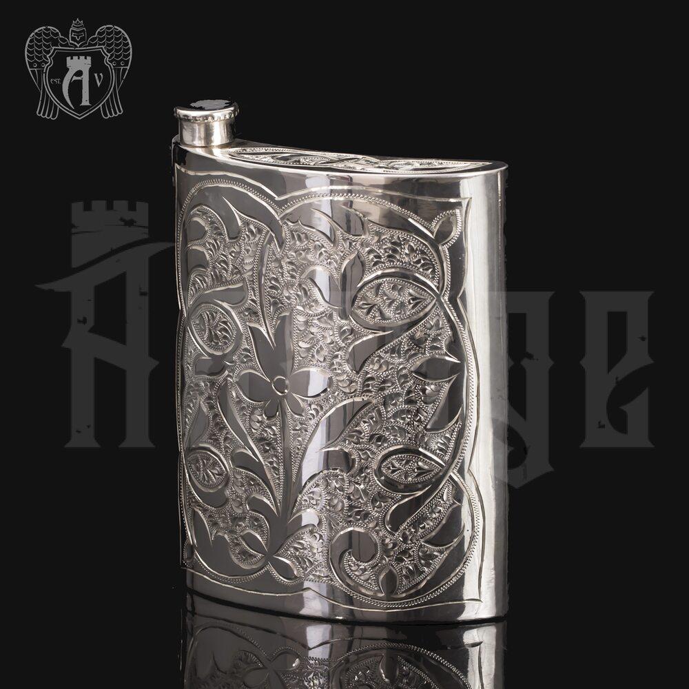 Серебряная фляжка  «Сияние»  Апанде, 72000198