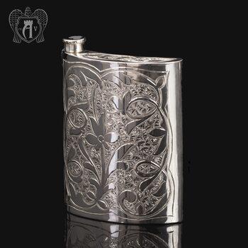 Серебряная фляжка  «Сияние»