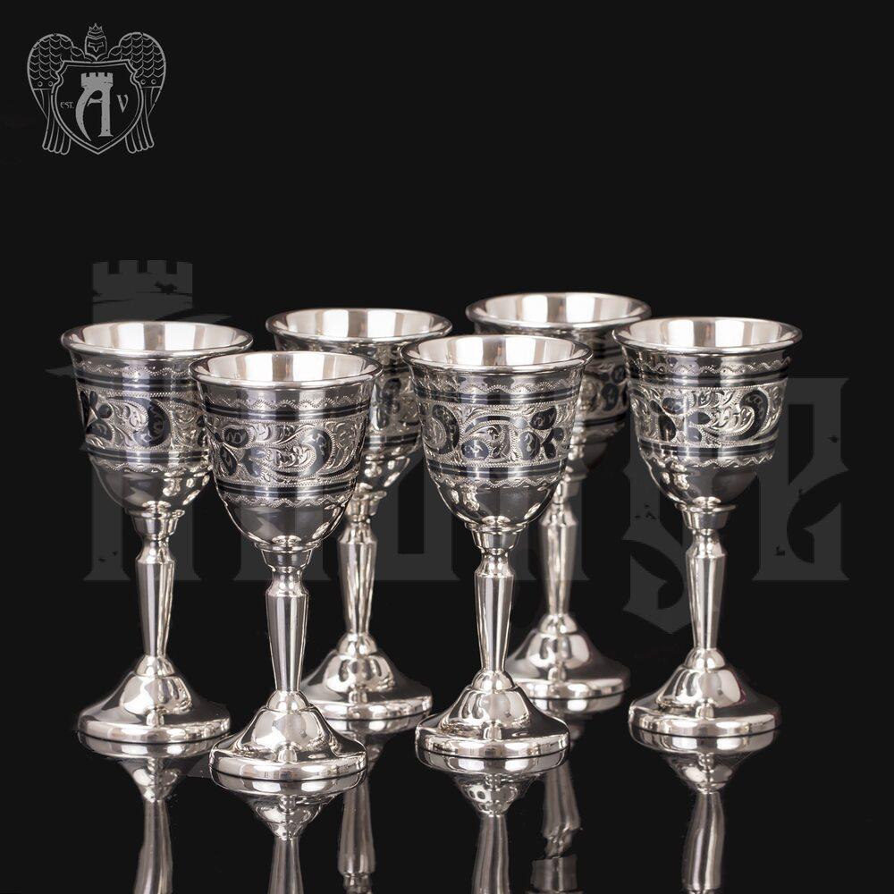 Рюмки  серебряные  «Тюльпан» Апанде, 75000182