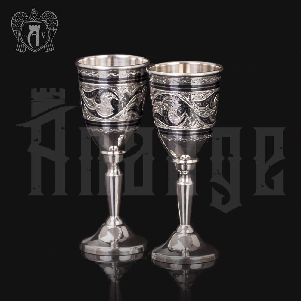 Набор рюмок из серебра  «Классика» Апанде, 75000183