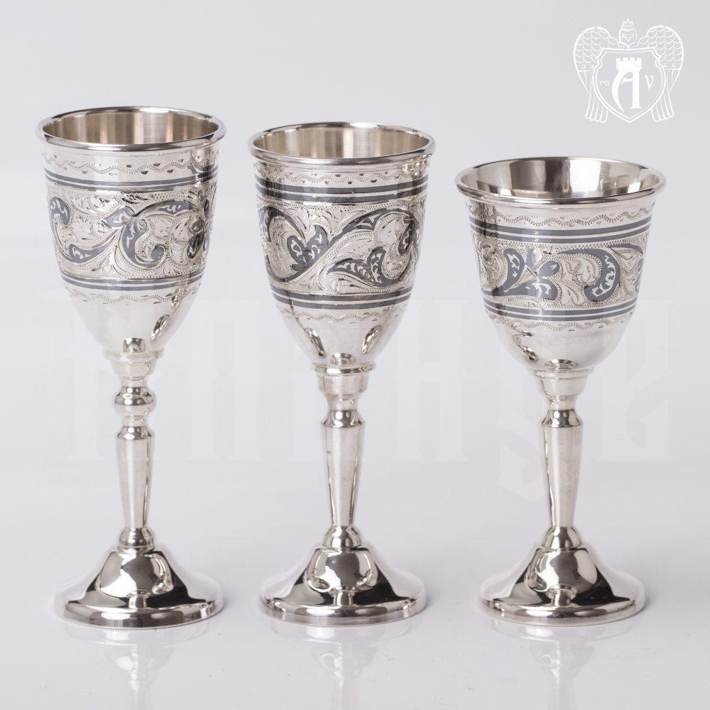 Набор рюмок из серебра  «Канцлер» Апанде, 75000184