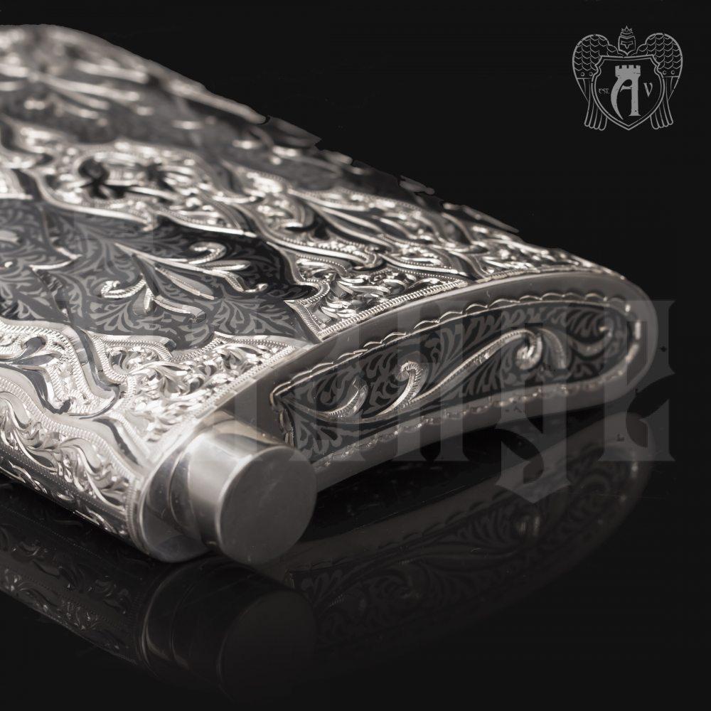 Серебряная фляжка  «Восток»  Апанде, 72000199